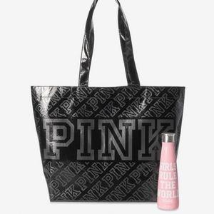 VS Pink Tote Bag & Water Bottle